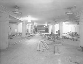 Renovations prior to the opening of Arliss Shoe Store 1948